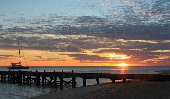 Sunrise, Monkey Mia, Australia, West Australia
