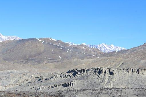 Mountains, Dry, Rock, Bare, Lifeless, Cold Desert
