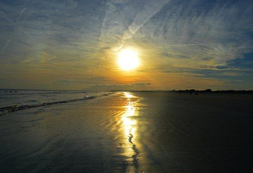 Sunset, Beach, South Carolina, Beach Sunset, Sea, Ocean