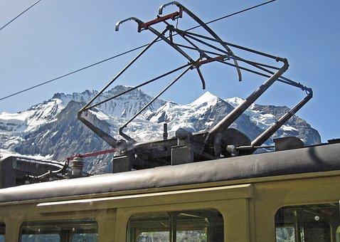 Wengernalpbahn, Virgin, Bernese Oberland, Pantograph