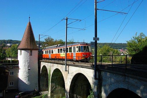 Switzerland, Bremgarten, Dietikon-bahn, Bridge