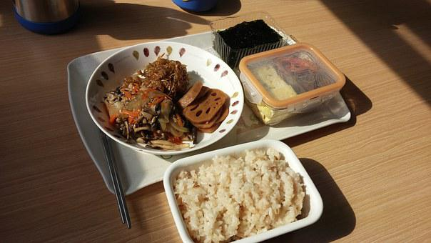 Lunch Box, Bob, Laver, Burdock, Side Dish, Dining
