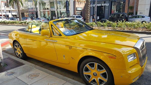 Rolls Royce, Car, Luxury, Royce, Automobile, Yellow