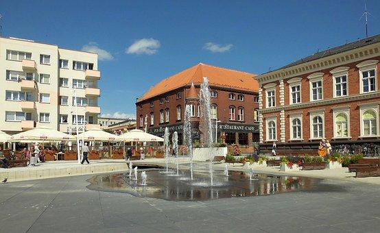 City, świnoujście, Poland, Old Town, Market