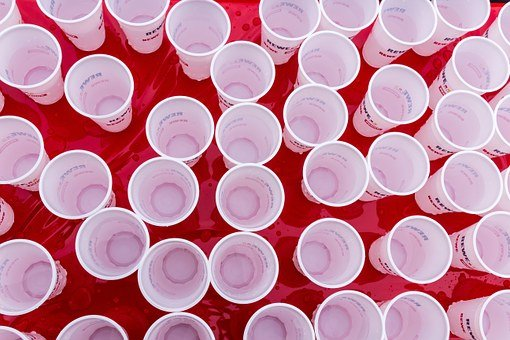Cup, Plastic Cups, Water, Typical Cuisine