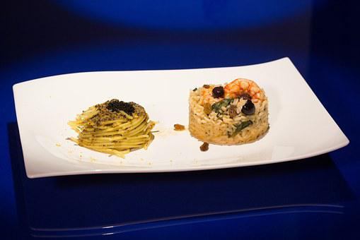 First, Dish, Spaghetti, Rice, Pasta, Shrimp, Caviar