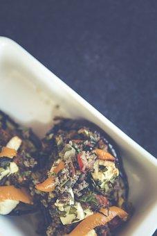 Eggplant, Vegetables, Casserole, Lamb Hack, Minced Meat
