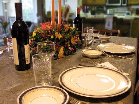 Dinner, Thanksgiving, Food, Wine, Season, Fall, Family