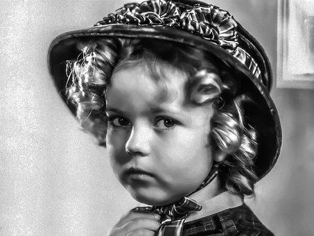 Shirley Temple, Female, Portrait, Singer, Dancer
