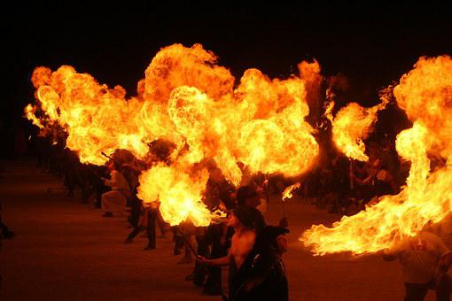 Fire Eaters, Burning Man, Flames, Performance