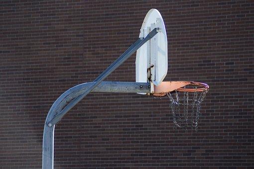 Basketball Hoop, Basketball, Rusty, Sport, Game