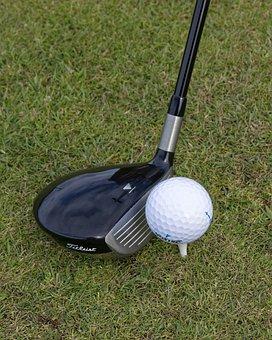 Golf, Club, Golf Club, 3 Wood, Tee, Ball, Golf Ball