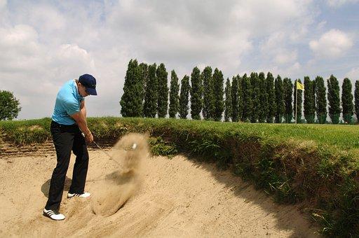 Golf, Bunker, Sport, Golf Course, Sand, Man, Golf Clubs