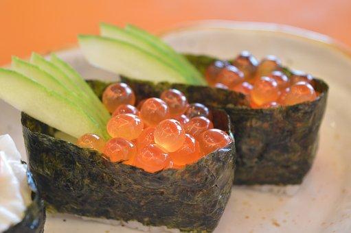 Sushi, Japanese, Food, Egg Fish, Japanese Food, Gourmet