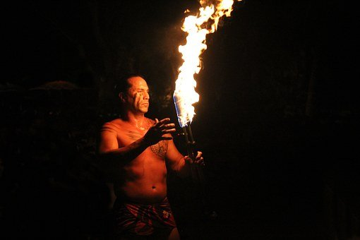 Hawaii Fire Dance, Flame, Hawaii, Fire, Dance