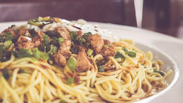 Food, Bowl, Noodles, Asian, Chinese, Chicken, Lamb