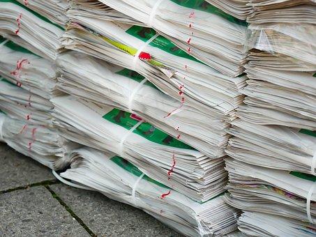 Newspaper, Pile, Stack, Material, Waste, Disposal
