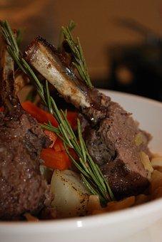 Roast, Lamb, Meat, Meal, Roasted, Dinner, Plate, Eat