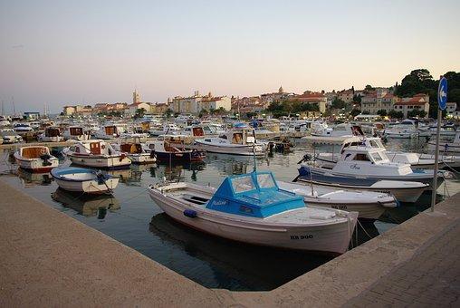 Rab, Croatia, Old Town, Port, Boot, Mediterranean