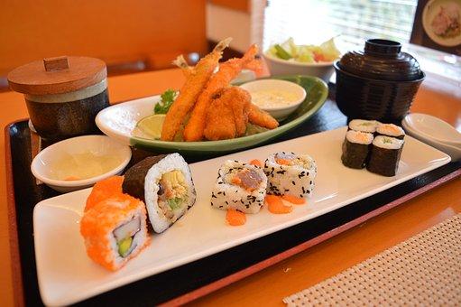 Japanese, Food, Meal, Cuisine, Rice, Roll, Fresh, Asian
