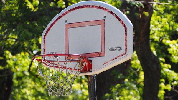 Basketball, Basketball Hoop, Rusted Basketball Hoop