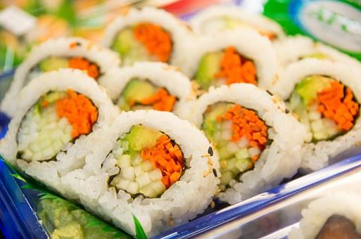 Sushi, Roll, Fish, Japanese, Seafood, Food, Rice, Fresh