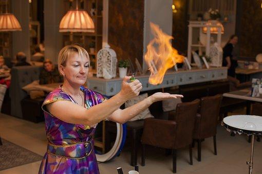 Magic Tricks, Fire, Flame, Show