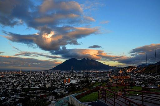 Monterrey, Cloud, Cerro, Mountains, Sky, Landscape