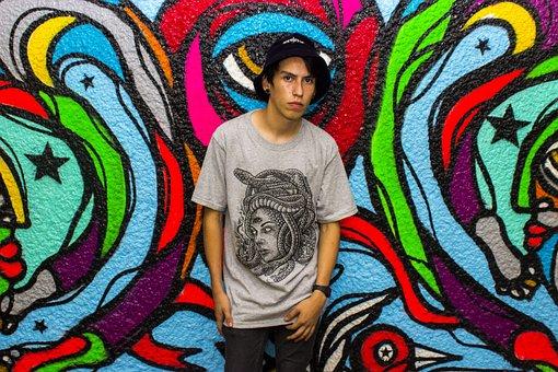 Monterrey, T-shirt, Blackbrand, Guy, Teen, Young, Wall
