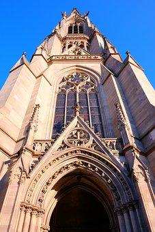 Speyer, Church, Building, Architecture, Religion