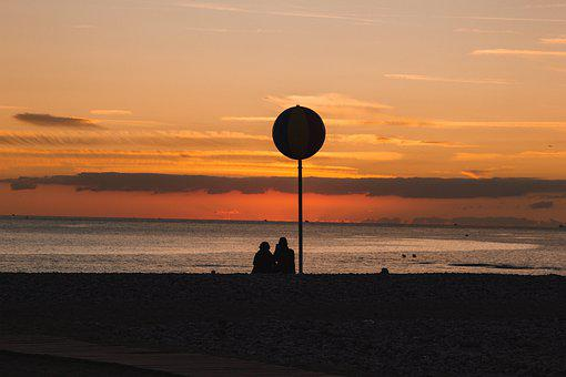 Sunset, Lovers, Ball, Earth Hour, Cute, Creation