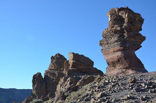 Trail, Rocks, Nature, Tenerife, Holiday, Blue Sky