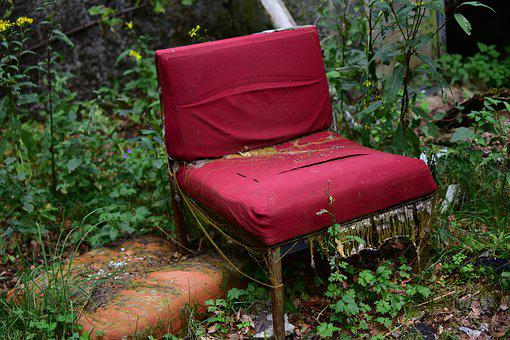 Chair, Lost Place, Furniture Pieces, Old, Break Up