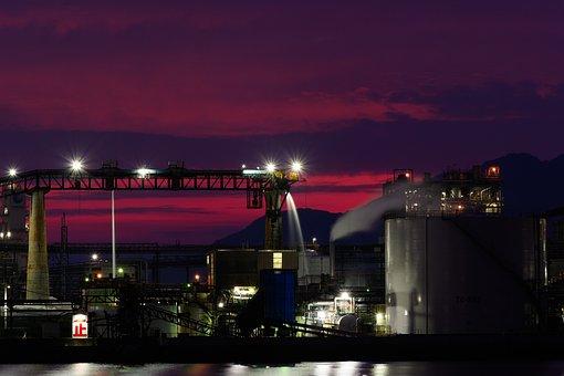 Factory, Dark, Industrial Buildings, Atmosphere