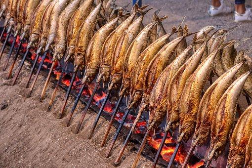 Fish, Eat, Grill, Mackerel, Food, Smoked, Fire, Munich