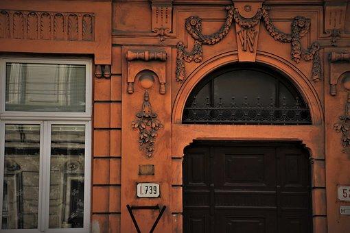 Entrance, Bow, Building, Historically, Portal