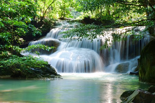 Waterfall, Green, Nature, River, Jungle, Landscape