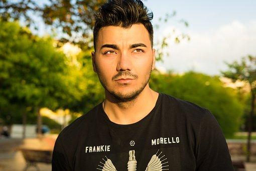 Portrait, Frankie Morello, Tshirt, Model, Guy, T-shirt