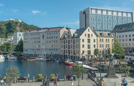 Bergen, Norway, Architecture, Harbor, Boats, Cityscape