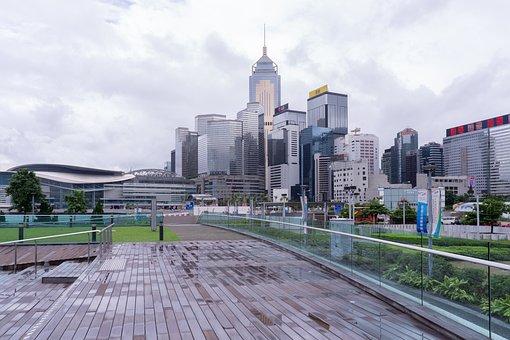 Hong Kong, City, Day, Skyscraper, Modern, Tower