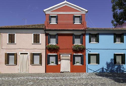 Coloured House, Venice, Burano, Italy, Island