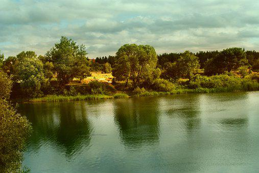 Water, Lake, Lagoon, Landscape, Summer, Reflection