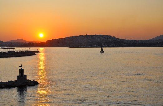Greece, Athens, Sunset, Evening, Mediterranean, Travel