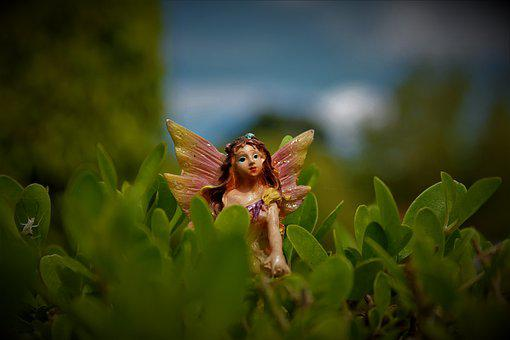 Statue, Fairy, Miniature, Mystical, Landscape, Nature