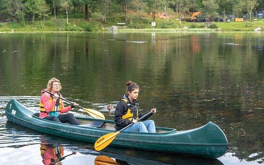 Kayak, People, Nature, Lake, Water, Kayaking, Boat