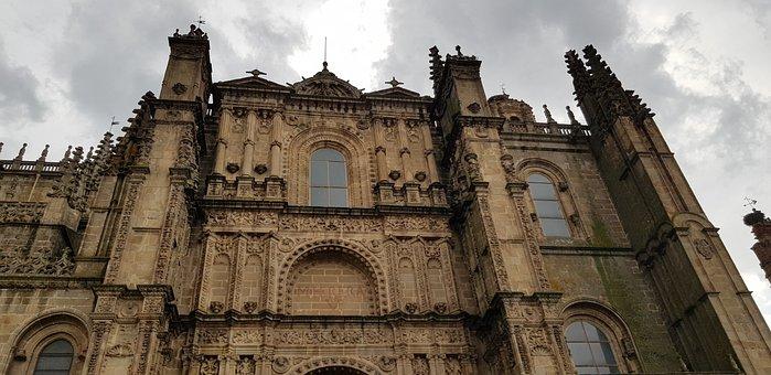 Cathedral, Stone, Plasencia, Architecture, Religion
