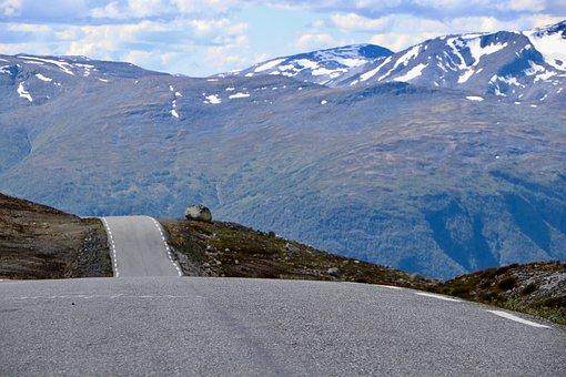 Norway, Road, Mountain, Roadtrip, Blue, Adventure