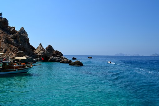 Sea, Rocks, Stones, Travel, Sky, Nature