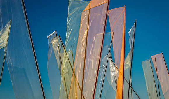 Flags, Flag, Colorful, Color, Wind, Air, Sky