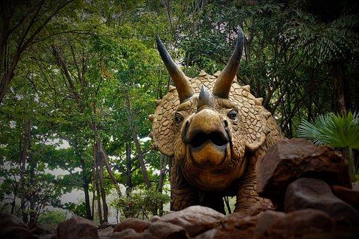 Statue, Dinosaurus, Landscape, Animal